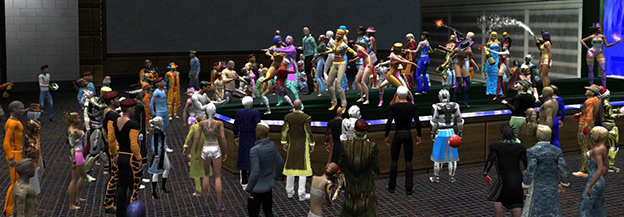 virtual world party