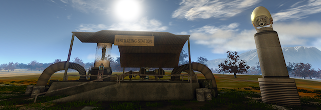 fertilizing station for virtual lands