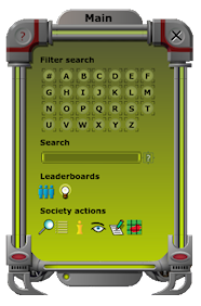 society terminal interface